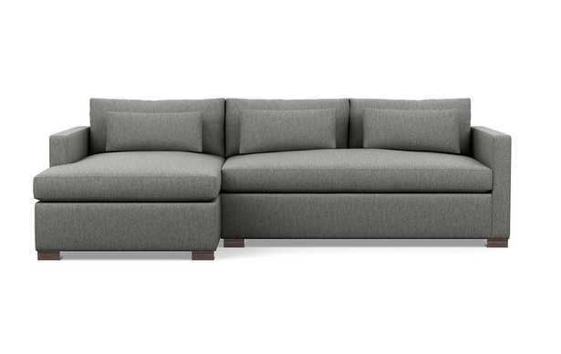 CUSTOM: Charly Fabric Sofa with Left Chaise - Interior Define