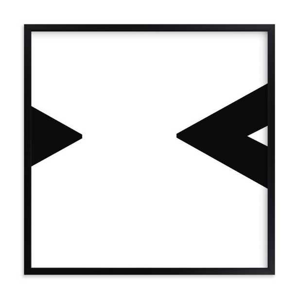 "glyphs | geometric 16""x16"" - White - Framed- Matte Black Frame - Standard Borders and Matting - Minted"