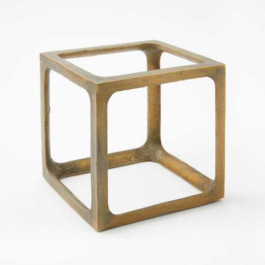 Metal Cube Objects,  Medium - West Elm