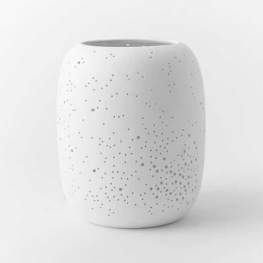 Pierced Porcelain Hurricanes + Vases - Constellation Medium - West Elm