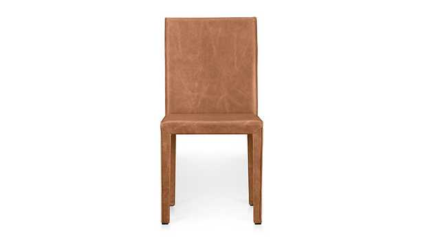Folio Saddle Top-Grain Leather Dining Chair - Crate and Barrel