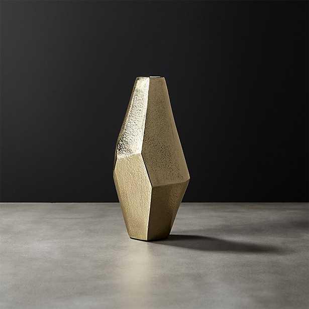 von gold geomtric vase - CB2