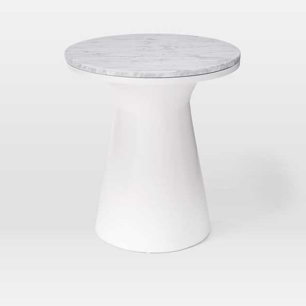 Marble Topped Pedestal Side Table - West Elm