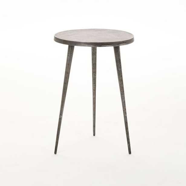 Cast Tripod Side Table, Charcoal - West Elm