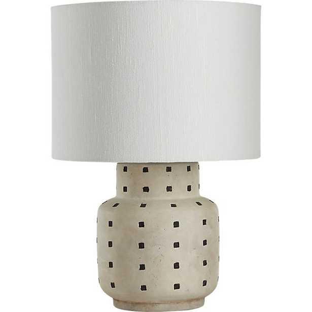 grid black and white polka dot table lamp - CB2