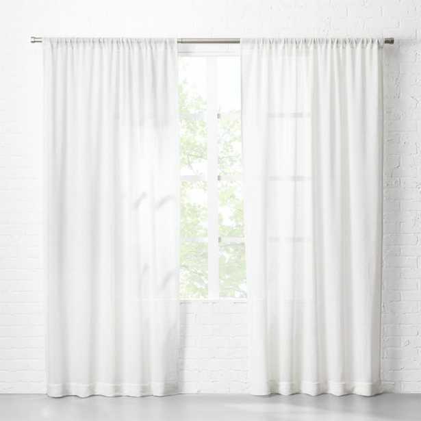 """White Net Curtain Panel 48""""x96"""""" - CB2"