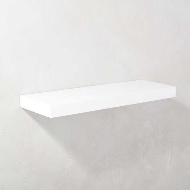 """Calvin Hi-Gloss White Floating Shelf 24"""" - CB2"""