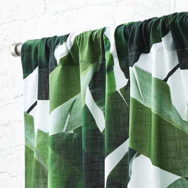 """Banana Leaf Curtain Panel 48""""x96"""" - CB2"""