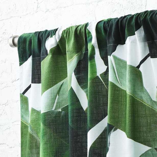 """Banana Leaf Curtain Panel 48""""x84"""" - CB2"""