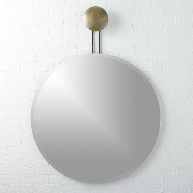 """Dot Brass Suspended Mirror 36"""""" - CB2"
