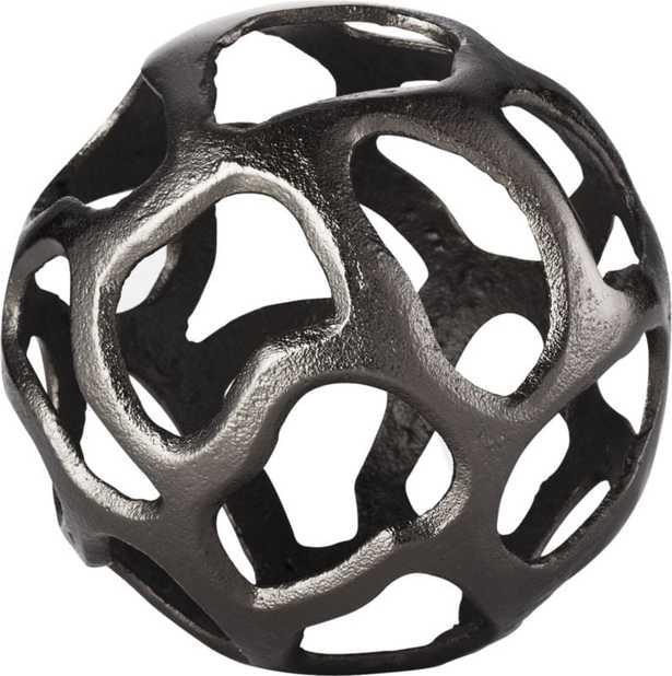 Meteor Large Black Nickel Sphere - CB2