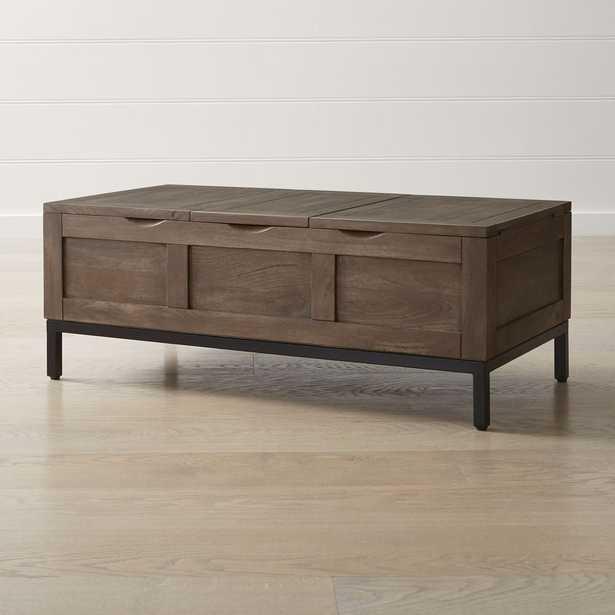 Tucker Grey Rectangular Trunk - Crate and Barrel