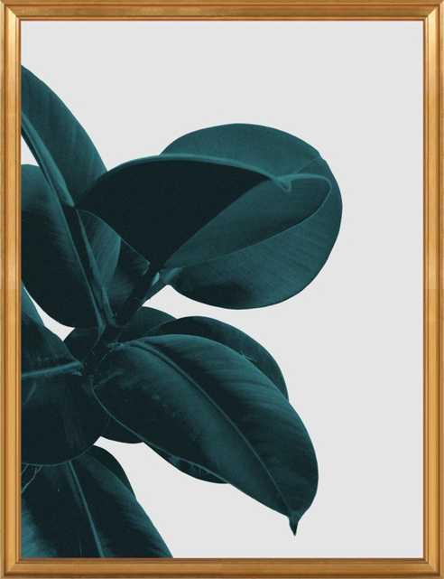 "Long way home - 28"" x 36"" - Gold leaf wood frame, no mat - Artfully Walls"