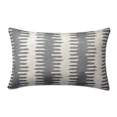 """Paloma Ikat Lumbar Jacquard Pillow Cover, 14"""" X 22"""", Gray - Williams Sonoma"""