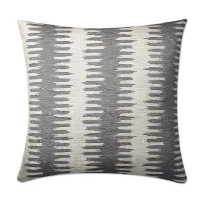"Paloma Ikat Jacquard Pillow Cover, 20"" X 20"", Gray - Williams Sonoma"