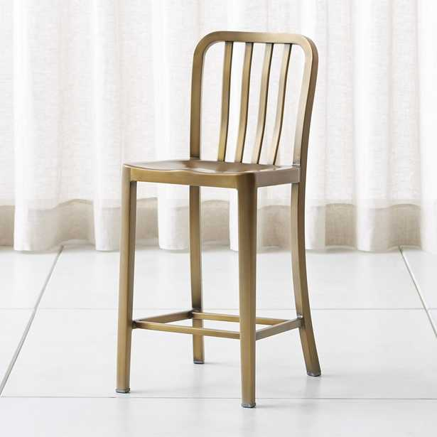 Delta Brass Counter Stool - Crate and Barrel
