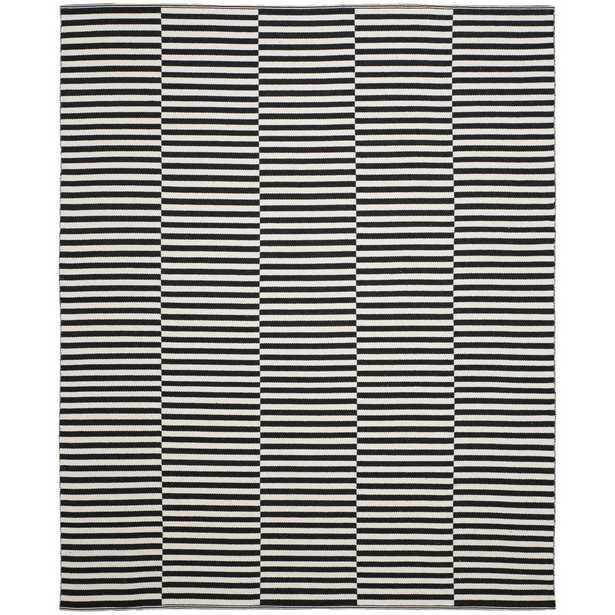 Montauk Ivory/Black 8' x 10'. Area Rug - Home Depot
