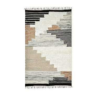 Colca Wool Rug, Flax, 9' x 12' - West Elm