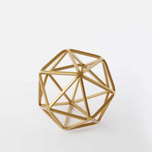 Symmetry Objects, Small Octahedron, Copper - West Elm
