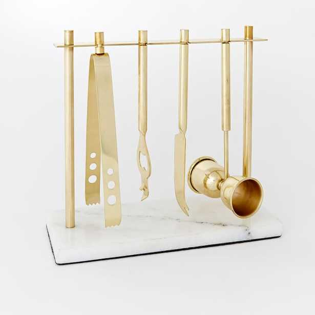 Deco Barware Collection - Brass + Marble - West Elm