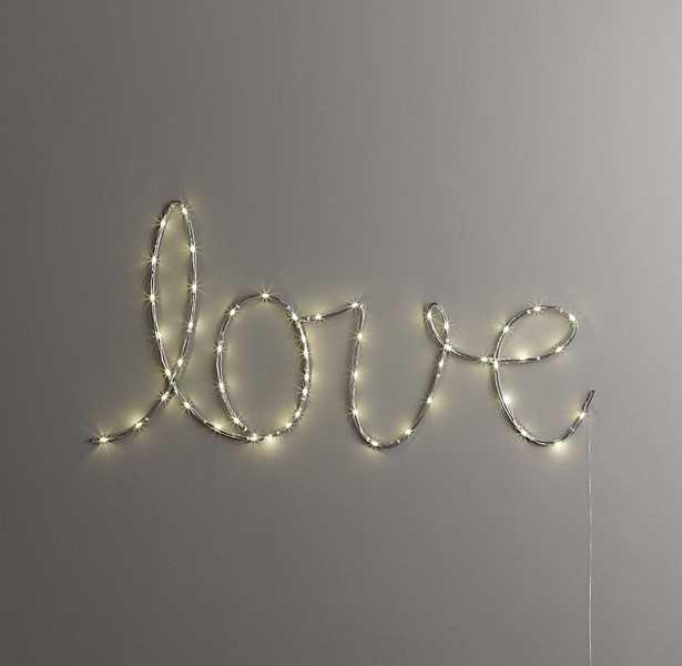 "STARRY LIGHT WALL DÉCOR - ""LOVE"" - RH Baby & Child"