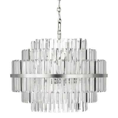 "Vienna 22"" Round Crystal Chandelier, Polished Nickel - Williams Sonoma"