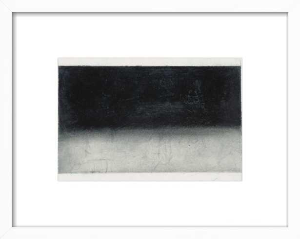 "Slumber - 25x19"" - White Wood Frame with Matte - Artfully Walls"