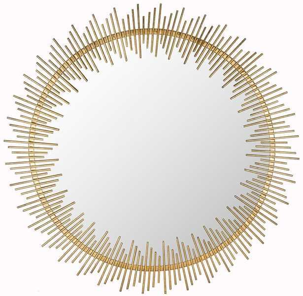 SUNRAY CIRCLE MIRROR/ANTIQUE GOLD - Arlo Home