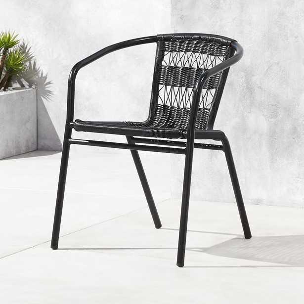 Rex Black Open Weave Chair - CB2