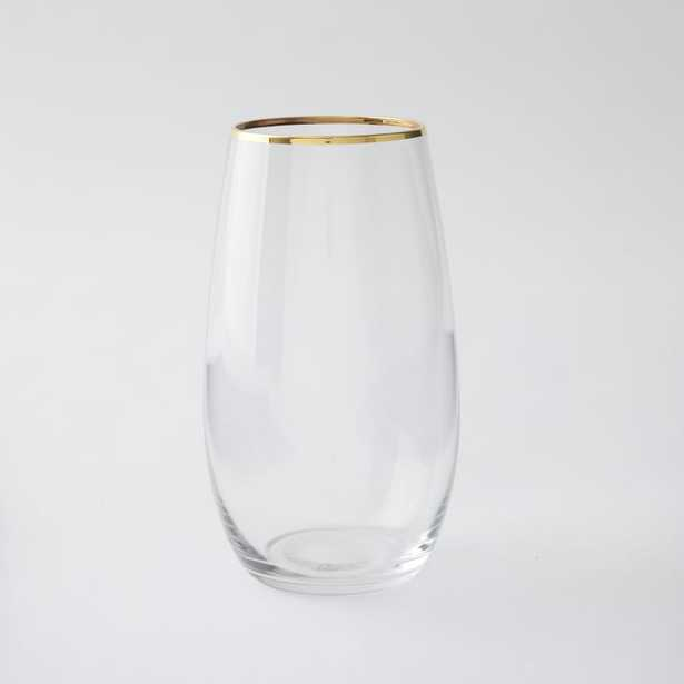 Stemless Glassware (Set Of 4) - Gold Rimmed (water glass) - West Elm