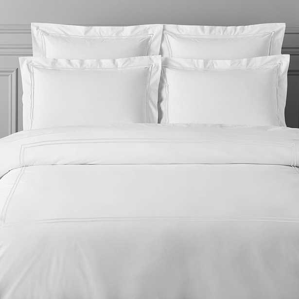 Italian Hotel Embroidered Bedding - KING Duvet + Shams - Williams Sonoma