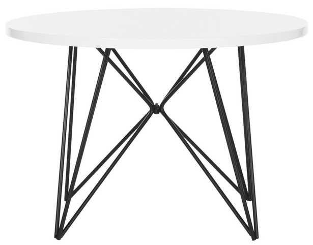 VIDA RETRO MID CENTURY LACQUER END TABLE - Arlo Home