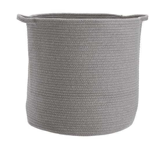 Heather Gray Sloan Cotton Rope Storage- Toy Dump - Pottery Barn Kids
