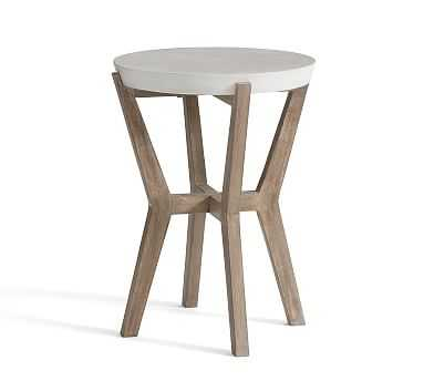 Raylan Outdoor Side Table, Weathered Gray - Pottery Barn