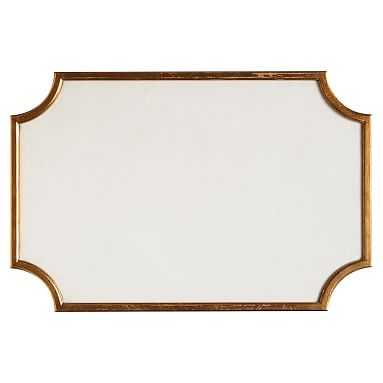 The Emily & Meritt Scallop Statement Pinboard, Linen Ground with Gold Frame - Pottery Barn Teen