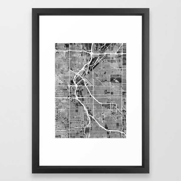 Denver Colorado Street Map - 15x21, Vector Black - Society6