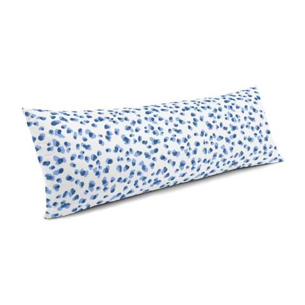 Blue Leopard Print Large Lumbar Pillow - Loom Decor