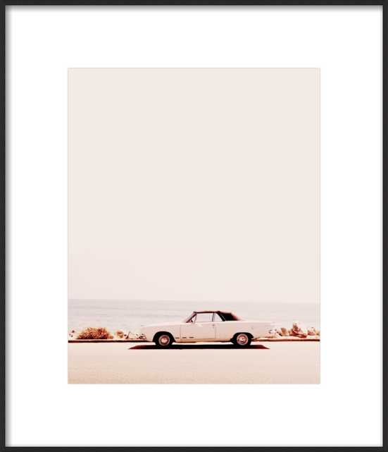 """California Dreaming   Frosted Gold Metal Frame   FINAL FRAMED SIZE: 18x21"""" - Artfully Walls"""