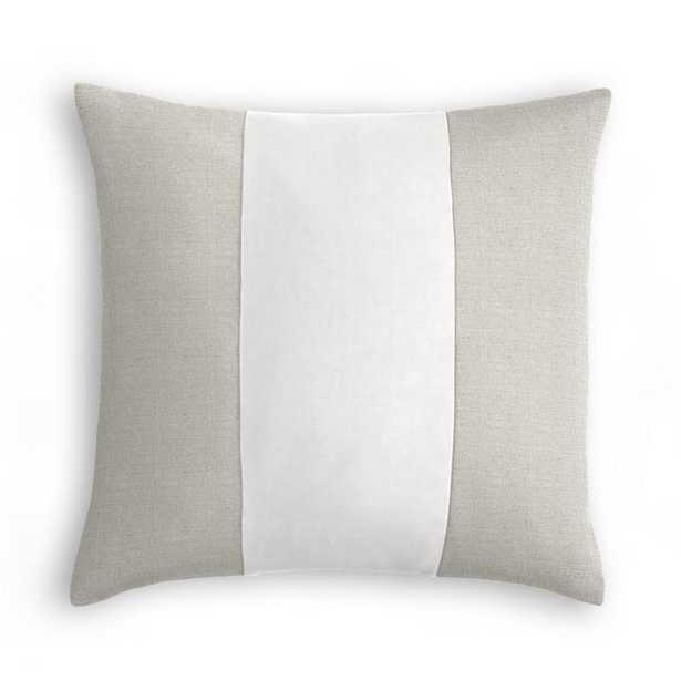 """Color Block Throw Pillow - Linen,  22"""" x 22"""" - Loom Decor"""