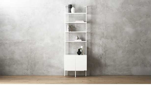 "stairway white 96"" cabinet - CB2"