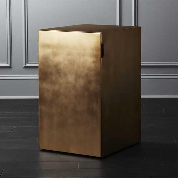 Gold File Cabinet - CB2