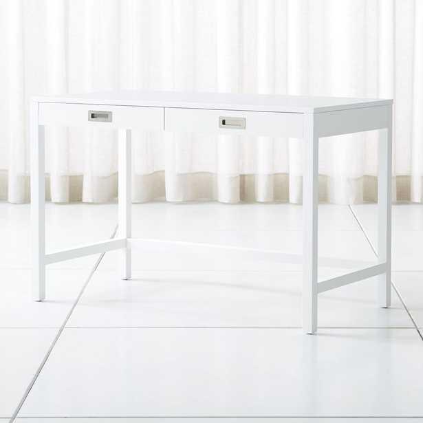 Aspect White Desk - Crate and Barrel