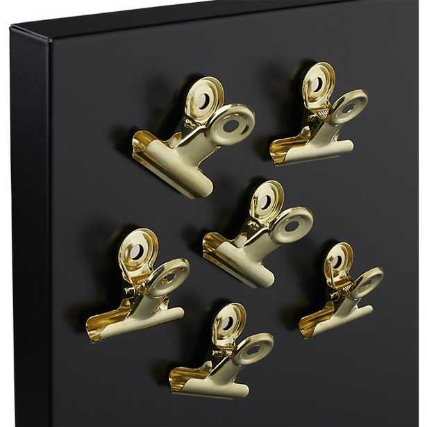 set of 6 magnetic gold clips - CB2