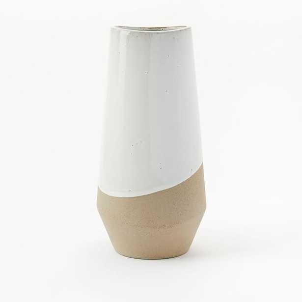 Half-Dipped Stoneware Vase - West Elm