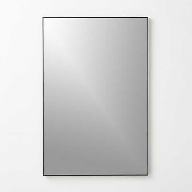"infinity black rectangle mirror 24""x36"" - CB2"