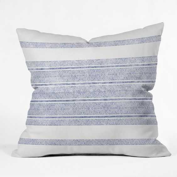 "CAPRI STRIPES Throw Pillow - 20"" x 20"" - Pillow Insert Included - Wander Print Co."