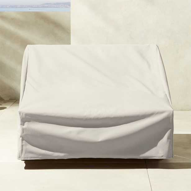 Sunset Teak Waterproof Lounge Chair Cover - CB2