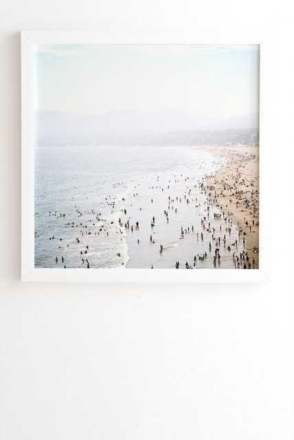 LA SUMMER Framed Wall Art -30x30 white frame - Wander Print Co.