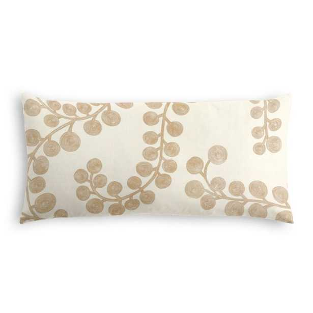 Lumbar Pillow  Goldilocks - Gilt w/polyfiberinsert - Loom Decor