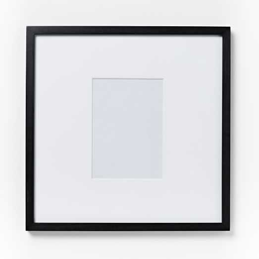 """Gallery Frame, Black Lacquer, 4""""x6"""" (17""""x17"""" Frame) - West Elm"""
